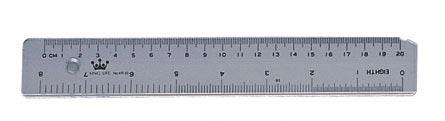 Plastic ruler (20 cm / 8 inches)