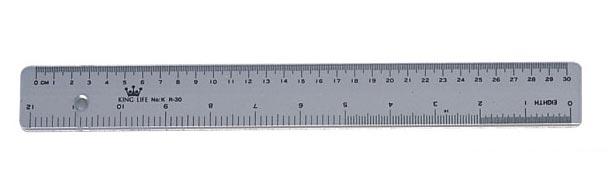 Plastic ruler (30 cm/ 12 inches)