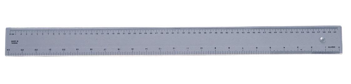Plastic ruler (60 cm / 24 inches)